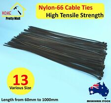 Nylon Cable tie ties Black Bulk Strong 100 200 300 400 1000 MM Build Electrical