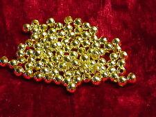 100 Metall Perlen Gold 4 mm Kugel Zwischenperlen