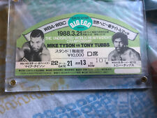 Vintage 1988 Diecut Boxing Ticket Mike Tyson Vs Tubbs World Championship rare