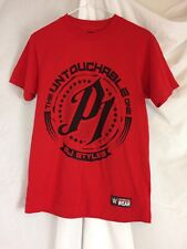 "Mens Small WWE Authentic Wear AJ Styles Red ""Untouchable Hard To Follow"" T-Shirt"