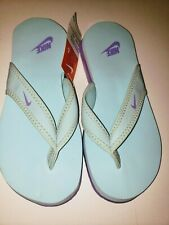 Women's Nike South Beach Celso Flip Flops Thong  Sandals Sz 6 Blue Purple NEW