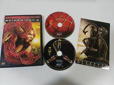 SPIDER-MAN 2 - 2 X DVD + EXTRAS MARVEL ENGLISH ESPAÑOL FRANCAIS REGION 1