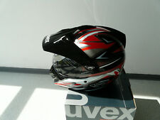 Casco per Moto Integrale da cross UVEX enduro 3 in 1 NERO LUCIDO XS