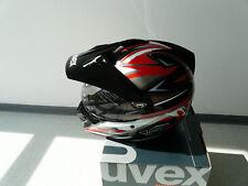 Casque de moto intégral CROSS UVEX Enduro 3 in 1 Noir Rouge Shiny XS