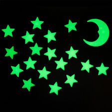50 Premium Glow In The Dark Stars and Moon Plastic Stickers Bedroom Wall Ceiling