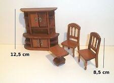 meubles en bois pour vitrine maison de poupée,buffet,chaises, miniatures   *B9