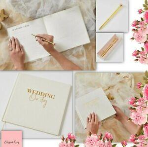 WEDDING DAY JOURNAL PLANNER ORGANISER BOOK PEN SET engagement bridal shower gift