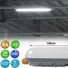 6er Set SMD LED 36W Tages Licht Decken Lampen Lager Wannen Leuchten Tages Lichte
