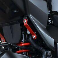 R&G Red Rear Foot Rest Blanking Plates fits Suzuki Katana 2020