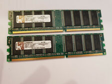 Kit Mémoire RAM 1 Go (2x512 MB) DDR-400 PC3200 KINGSTON KVR400X64C3A/512