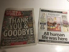 Last Ever Edition Of The News Of The World July 10th 2011