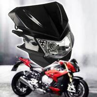 Noir moto supermotard dirtbike enduro headlight carénage phare streetfighter