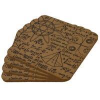 Math Geek Formulas Square Cork Coaster (Set of 4)
