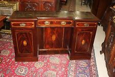 Beautiful English Antique Inlaid Mahogany Sideboard / Credence Cabinet / Desk