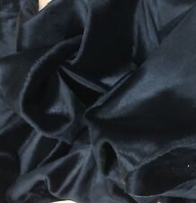 Genuine Calfskin Hair On Hide Pelt Plain Black Short Hair Calf Hide Skin 5-5.75S