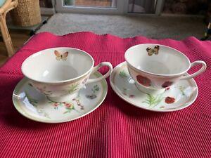 Maxwell & Williams Butterfly Garden Tasse mit Untertasse Kaffee Tee Bone China