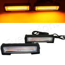 2X18W COB LED Yellow Emergency Warning Hazard Lamp Car Grille Strobe Light Bar