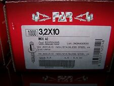 1000 Edelstahl Blindnieten 3x12 FK A2//A2  3,0 SONDERANGEBOT uu