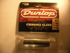Jim DUNLOP 220 med chrome steel slide Bottle Neck Acier
