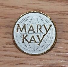 Mary Kay Gold & Silver Toned Circular 1 Inch Promotional Collectible Pin/Brooch