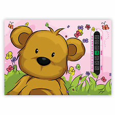 Room Thermometers A5 Nursery, Baby and Childrens Pink Teddy Bear