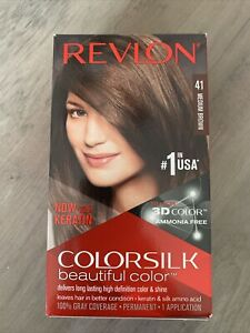 Revlon Colorsilk Permanent Hair Dye Keratin No Ammonia 41 Medium Brown