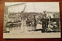 French Destroyer Fronde damaged Hong Kong Typhoon 1906 PostCard #15 UNUSED