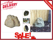 Fiberglass Rock Well Cover Boulder Beige Water Features Landscapes Usage New