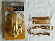 SMITH & LOCKE Brass  Security Catches x 2