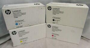 Set of 4 NEW HP LaserJet CE260XC CE261AC CE262AC CE263AC Print Cartridges