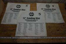 """3 5-Pad Shopsmith Mark V 510/520 12"""" Sanding Disc Sets, Fine, Med. & Coarse!"""