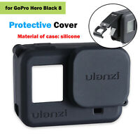 Silicone Protective Case + Chargeable Battery Lid for GoPro Hero Black 8 Camera