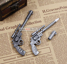 2 Novelty Pens Gun Shape Ballpoint Stationery Pen Student Office Creative