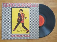 ELVIS COSTELLO & The ATTRACTIONS signed 1977 MY AIM IS TRUE D Record / Album COA