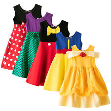 Toddler Girls Sleeveless Fancy Birthday Dress Kids Wedding Party Formal Pageant