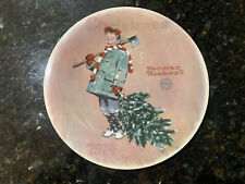 """New ListingNorman Rockwell """"Scotty Gets His Tree"""" Christmas Plate 1974 Limited Edition #952"""