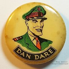 More details for rare vintage dan dare pilot of the future comics hero button pin badge
