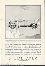 1929 Studebaker advertisement, STUDEBAKER President Eight Roadster, Art Deco