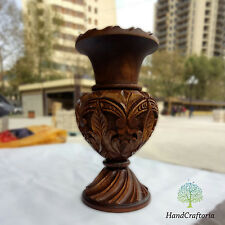 Handmade Big Walnut Wood Carved Vase - Armenian Woden Vase - vase Floral vase