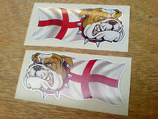BRITISH BULLDOG &ENGLAND Car Van Motorcycle Stickers Decals 2 off 100mm