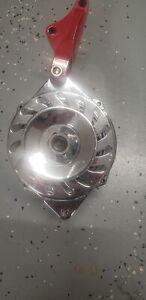 Chrome BBC SBC Chevy GM Alternator 1 Wire Marine or Street Rod-High Output
