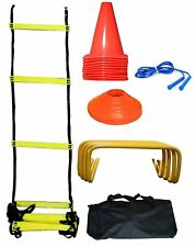 CW MARK Football Training Equipment Set Ladder Disc Cone Ground Marker Carry Bag