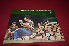 John Deere Chain Saws & Log Splitters For 1977 Dealer Brochure DCPA3