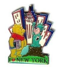 Disney Pooh Bear & Piglet I Love New York Pin