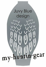 Stencil for painting feather detail on Juvy Blue Goose Windsock Decoys Northwind