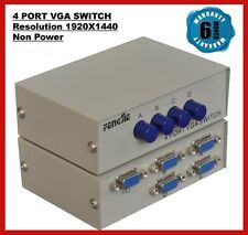 4 Port VGA Switch - Connect Four Monitors to 1 CPU and Switch