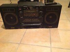 VTG Soundesign 5834 Dual Cassette Deck/Radio MIni Stereo System W/Remote Control