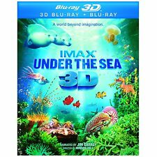 IMAX UNDER THE SEA 3D BLU RAY 3D + BLU RAY NEW! JIM CARREY, OCEAN REEF, PACIFIC
