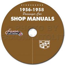 1956 1957 1958 Studebaker and 58 Packard CD Shop Manual Repair Service