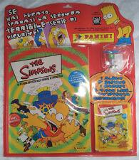 Panini THE SIMPSONS album vuoto + 5 bustine + 1 3D - blister sigillato 2000